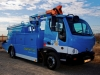 PG&E's Smith Newton battery electric aerial truck has separate battery systems for its driveline and lift. The new plug-in being developed by Electric Vehicles International is to have just one lithium iron phosphate pack.
