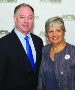 GNA's Cliff Gladstein and CARB's Mary Nichols at ACT Expo 2012
