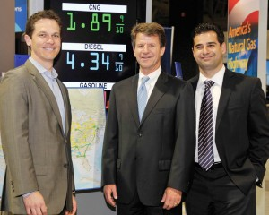 Chad Lindholm, Jim Harger, and Shaunt Hartounian of Clean Energy Fuels