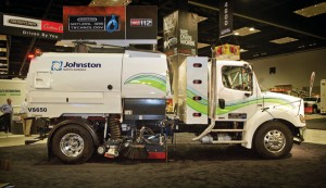 Compressed natural gas-fueled Freightliner M2 112 truck with Johnston sweeper body