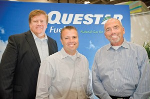 Questar's Craig Wagstaff, Judd Cook and Carl Galbraith at Booth 501.