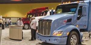 CNG-fueled Class 8 trucks at ACT Expo 2014 Booth 357