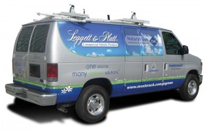 Leggett & Platt CVP is showing this Ford van with Landi Renzo USA conversion hardware at Booth 1651.