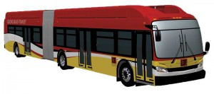 New Flyer Industries will deliver its first CNG-fueled 60-foot Xcelsior buses for Long Beach Transit in the first quarter of 2015. The buses will have 8.9-liter ISL G engines from Cummins Westport and Type IV CNG fuel cylinders from Hexagon Lincoln.