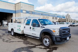 Supported by a new stable of calibration specialists, the World CNG strategy is to offer custom NGV designs for vehicles and fueling combinations that haven't before been available. An LNG-fueled Ford F-550 work truck for Washington State's Potelco is seen here. Adam Huff photo courtesy World CNG