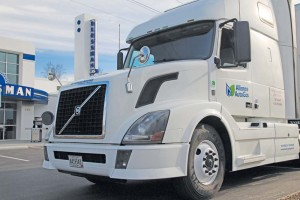 Volvo D13 test vehicle at Blossman's new Autogas Research & Technology Center in Asheville, N.C.