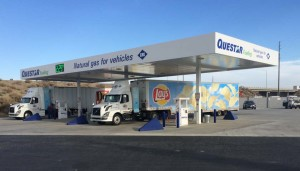 Questar Fueling's new CNG outlet in Buttonwillow, Calif., off I-5 just west of Bakersfield